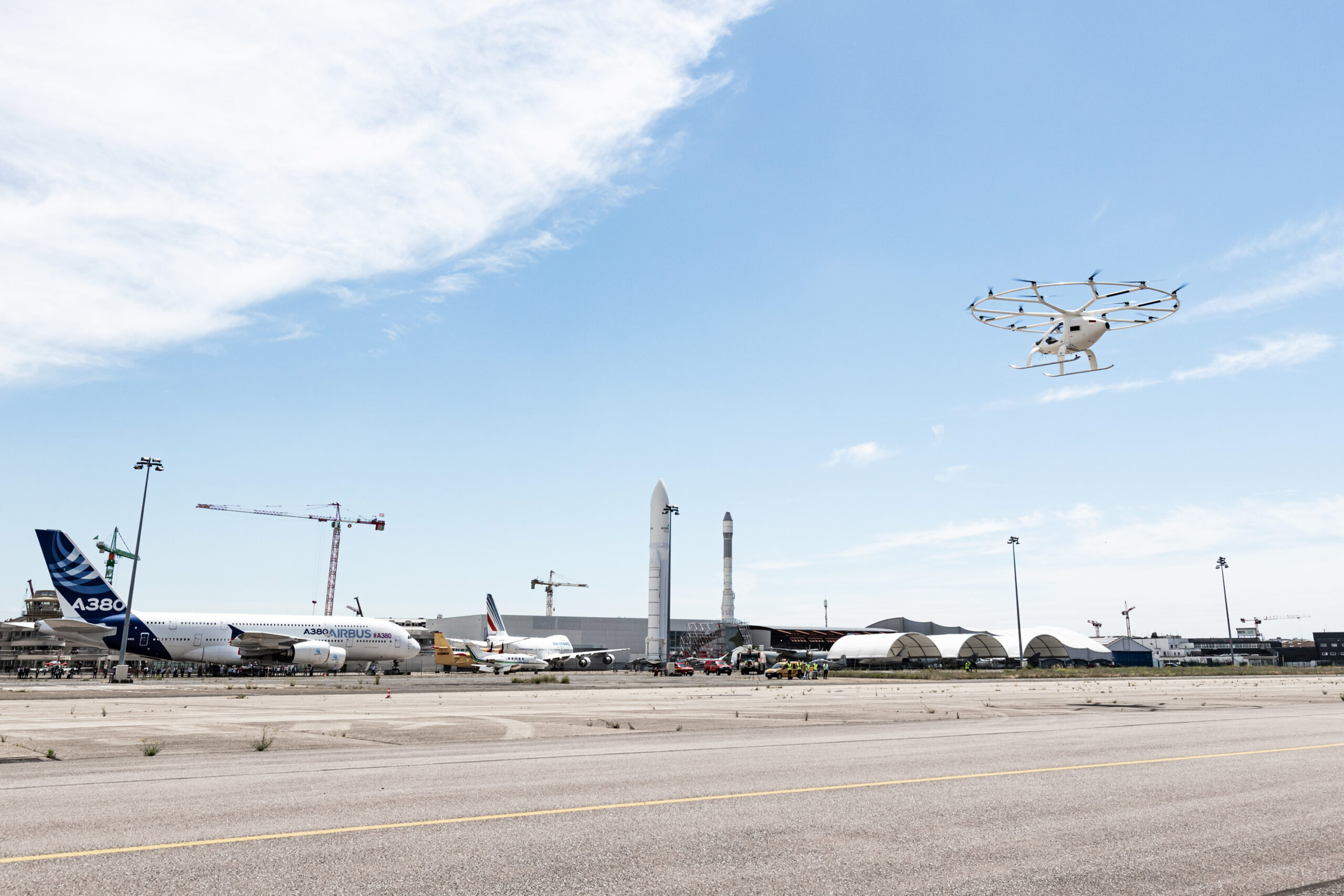 Volocopter flew 2X electric vertical take-off and landing at Le Bourget Airfield